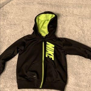 Child's Nike Sweater Size 24 months Black/Green